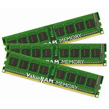 Kingston ValueRAM 12 Go (3x 4Go) DDR3 1066 MHz ECC Registered Kingston ValueRAM 12 Go (kit 3x 4 Go) DDR3-SDRAM PC3-8500 ECC Registered with Parity x8 Quad Ranked CL7 - KVR1066D3Q8R7SK3/12G (garantie 10 ans par Kingston)