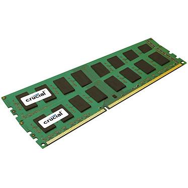 Crucial DDR3 8 Go (2 x 4 Go) 1600 MHz ECC CL11 VLP Kit Dual Channel RAM DDR3 PC12800 - CT2K51272BR160BJ (garantie à vie par Crucial)
