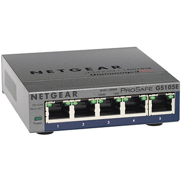 Netgear GS105E Netgear GS105E - Switch 5 ports 10/100/1000 Mbps Green Ethernet