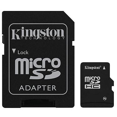 Kingston microSD 16 Go High Capacity Class 10 + adaptateur SDHC Kingston microSD 16 Go High Capacity Class 10 + adaptateur SDHC (garantie 10 ans par Kingston)