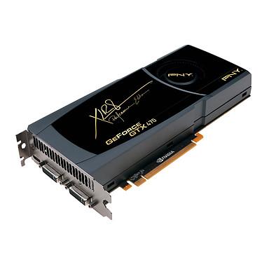 PNY GeForce GTX470 - 1280 MB PNY GeForce GTX470 - 1280 Mo Mini HDMI/Dual DVI - PCI Express (NVIDIA GeForce avec CUDA GTX 470)