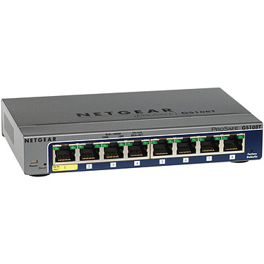 Netgear GS108T v2 Netgear GS108T v2 - Conmutador inteligente Web Manageable Gigabit nivel 2