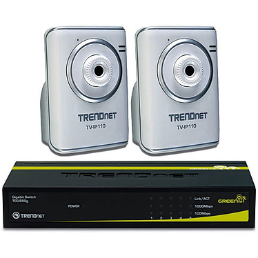 TRENDnet 2 caméras TV-IP110 +  Switch 5 ports TEG-S50g