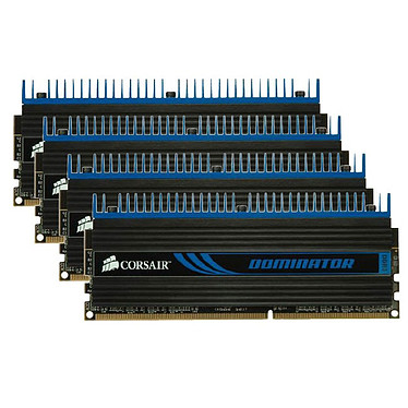Corsair Dominator 16 Go (4x 4 Go) DDR3 1333 MHz CL9 Kit Dual Channel 4 barrettes de RAM DDR3 PC10600 – CMP16GX3M4A1333C9 (garantie 10 ans par Corsair)
