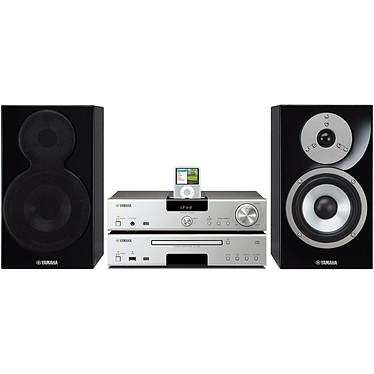 Yamaha MCS-1330 Argent/Noir Yamaha MCS-1330 Argent/Noir - Mini chaine MP3 iPod USB