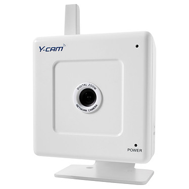 Y-cam White SD Y-cam White SD - Caméra Internet/Sécurité sans fil 54 Mbps (Wi-Fi G/Ethernet) avec Slot micro SD - compatible 3G