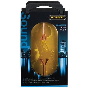 Profigold PROR72204 - Câble Haut-parleur FlatFlex 2x 1.5 mm² - 20 m (rouleau) Câble Haut-parleur hautes performances FlatFlex 2x 1.5 mm² - 20 m (rouleau)