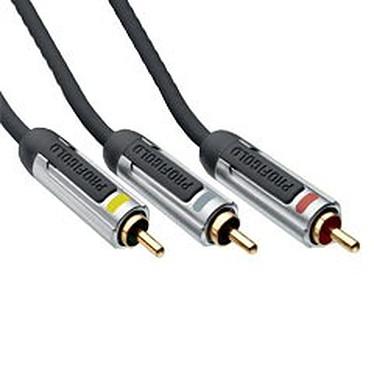 Profigold Câble audio/vidéo 3x RCA Mâle/Mâle