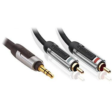 Profigold PROA3405 - Jack 3.5 mm vers 2x RCA Audio stéréo - 5 m Profigold PROA3405 - Jack 3.5 mm vers 2x RCA Audio stéréo - 5 m