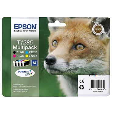 Epson T1285 MultiPack Pack de 4 cartouches d'encre noire, cyan, magenta, jaune