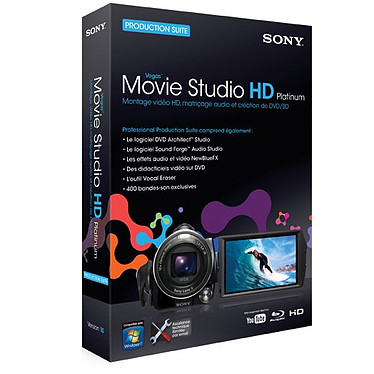 Sony Vegas Movie Studio HD Platinum 10 Production Suite Sony Vegas Movie Studio HD Platinum 10 Production Suite (français, WINDOWS)