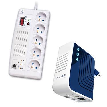 LEA NetPlug200+ & LEA NetStrip200+ LEA NetPlug200+ & LEA NetStrip200+ - Adaptateur CPL 200 Mbps + Multiprise/Parafoudre/Concentrateur CPL 200 Mbps