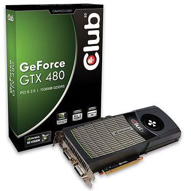 Club 3D GTX 480 1536 MB Club 3D GTX 480 1536 MB - 1536 Mo Dual DVI/HDMI - PCI-Express (NVIDIA GeForce avec CUDA GTX 480)