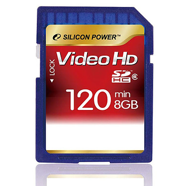Silicon Power Secure Digital High Capacity Full HD Video Card 8 GB Class 6 Silicon Power Full HD Video Card - Secure Digital High Capacity 8 Go (Class 6)
