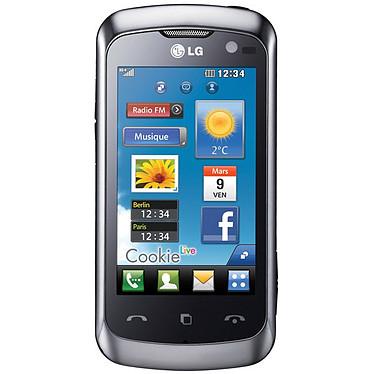 """LG KM570 Cookie Live Argent LG KM570 Cookie Live Argent - Smartphone 3G+ avec écran tactile 3"""""""