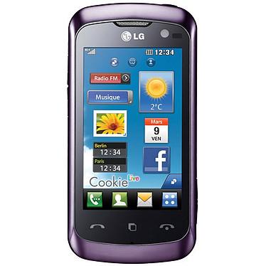 """LG KM570 Cookie Live Violet LG KM570 Cookie Live Violet - Smartphone 3G+ avec écran tactile 3"""""""