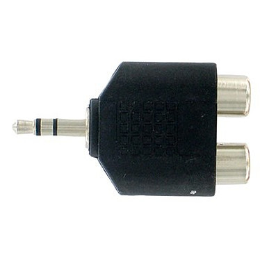 Thomson Adaptateur 2x RCA femelle / Jack 3.5 mm mâle Thomson KCA196 - Adaptateur 2x RCA femelle / Jack 3.5 mm mâle