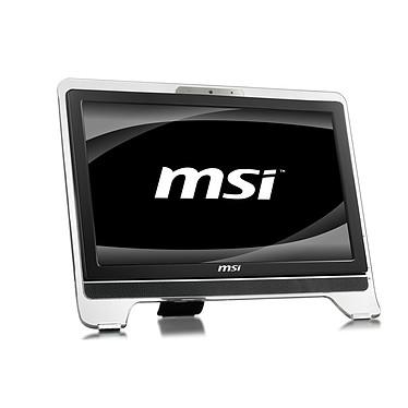 "MSI Wind Top AE2020-083 MSI Wind Top AE2020-083 - Intel Pentium Dual-Core T4500 3 Go 320 Go Graveur DVD LCD 20"" Tactile Wi-Fi N Webcam Windows 7 Premium 64 bits (coloris noir)"