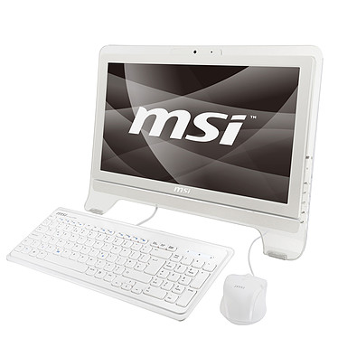 "MSI Wind Top AE2020-051 MSI Wind Top AE2020-051 - Intel Pentium Dual-Core T4500 3 Go 320 Go Graveur DVD LCD 20"" Tactile Wi-Fi N Webcam Windows 7 Premium (coloris blanc)"