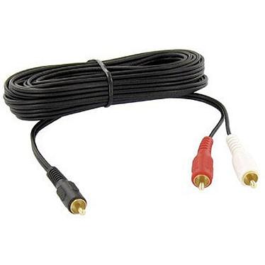 Thomson KCA160G Thomson KCA160G - Câble audio 1 RCA Mâle / 2 RCA Mâles - 2 m