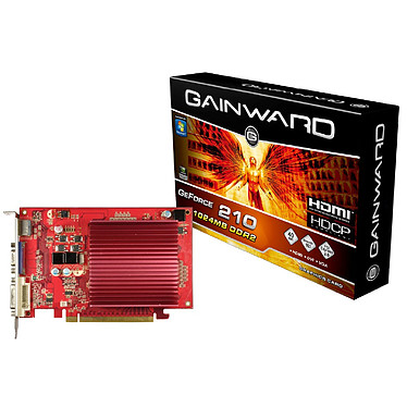 Gainward GeForce 210 1024MB DDR2 Gainward GeForce 210 1024MB DDR2 - HDMI/DVI - PCI Express (NVIDIA GeForce avec CUDA G210)