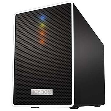 """ICY BOX IB-RD4320StUS3 ICY BOX IB-RD4320StUS3 - Boîtier externe RAID pour 2 disques durs 3""""1/2 sur ports USB 3.0 (noir)"""