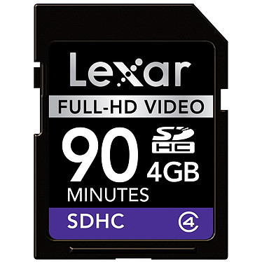 Lexar Carte SDHC Full-HD Video - 4 Go Lexar Carte SDHC Full-HD Video - 4 Go