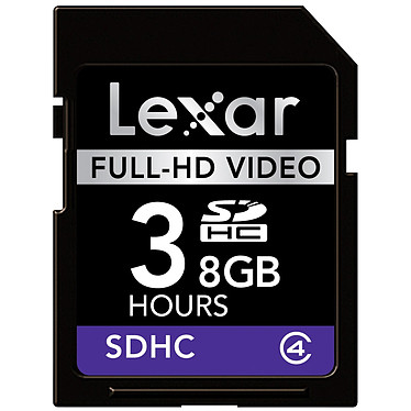 Lexar Carte SDHC Full-HD Video - 8 Go Lexar Carte SDHC Full-HD Video - 8 Go