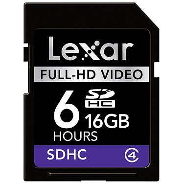 Lexar Carte SDHC Full-HD Video - 16 Go Lexar Carte SDHC Full-HD Video - 16 Go