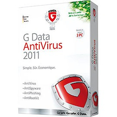 G DATA AntiVirus 2011 G DATA AntiVirus 2011 - Licence 1 an 3 postes (français, WINDOWS)
