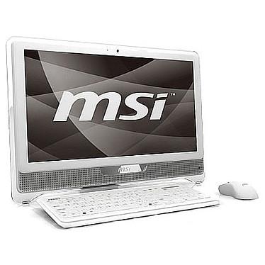 "MSI Wind Top AE2220-200 MSI Wind Top AE2220-200 - Intel Core 2 Duo T6600 4 Go 640 Go Graveur DVD LCD 21.5"" Tactile Wi-Fi N Webcam Windows 7 Premium 64 bits (coloris blanc)"