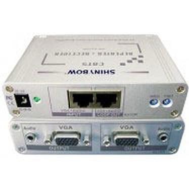 Récepteur double VGA + audio sur port Ethernet Récepteur double VGA + audio sur port Ethernet
