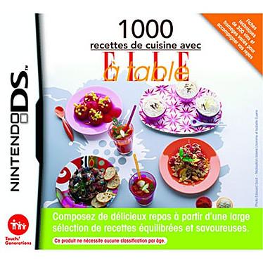 """""""1000 recettes de cuisine avec ELLE à table"""" (Nintendo DS) """"1000 recettes de cuisine avec ELLE à table"""" (Nintendo DS)"""