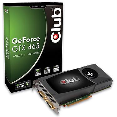 Club 3D GTX 465 1024 MB Club 3D GTX 465 1024 MB - 1024 Mo Dual DVI/HDMI - PCI-Express (NVIDIA GeForce avec CUDA GTX 465)