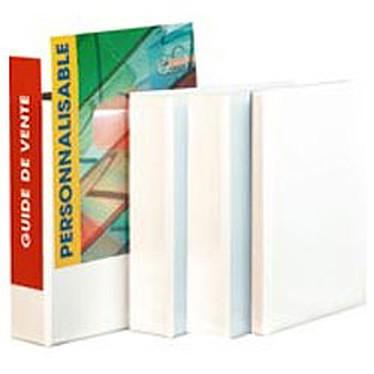 Classeur A4 Blanc personnalisable - 2 anneaux 50 mm et dos 75 mm Classeur A4 Blanc personnalisable - 2 anneaux 50 mm et dos 75 mm