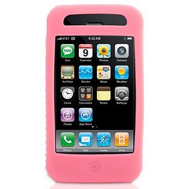 Griffin FlexGrip Griffin FlexGrip - Housse en silicone rose (pour iPhone 3G)