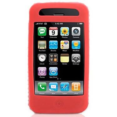 Griffin FlexGrip Griffin FlexGrip - Housse en silicone rouge (pour iPhone 3G)
