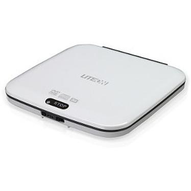 Lite-On eTDU108-01 Lite-On eTDU108 - Lecteur DVD-ROM 8x/24x Slim externe Blanc - USB 2.0