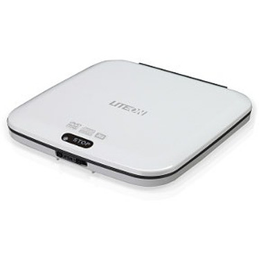 Lite-On eTAU108-01 Lite-On eTAU108 - Graveur DVD(+/-)RW/RAM 8/8/8/6/5x DL(+/-) 6/6x CD-RW 24/24/24x Slim externe Blanc - USB 2.0