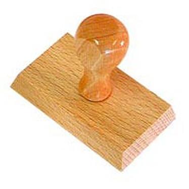 Timbre en bois 4 lignes sans cadre Timbre en bois 4 lignes sans cadre