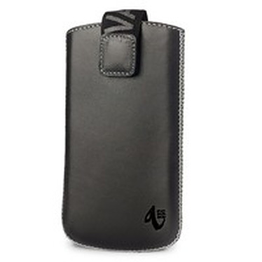 Valenta Pocket Luxe Text Silver 01 Valenta Pocket Luxe Text Silver 01- Etui en cuir noir/argent