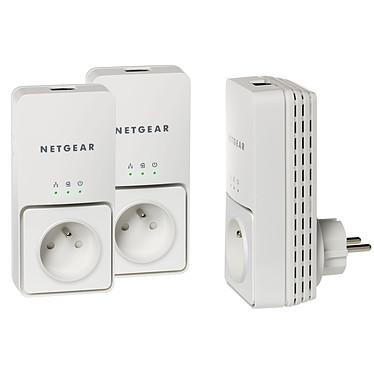 Netgear XAVT2501 Netgear XAVT2501 - Pack de 3 Adaptateurs CPL Ethernet 200 Mbit/s avec prise électrique