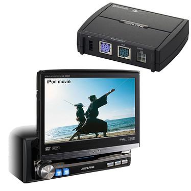 Alpine IVA-D106R + KCE-400BT Alpine IVA-D106R + KCE-400BT - Lecteur multimédia 1DIN avec écran 7 pouces et entrée auxiliaire + Module Bluetooth pour autoradios