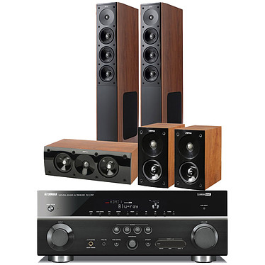 Yamaha RX-V767 Noir + Jamo S 608 HCS 3 Dark Apple Yamaha RX-V767 Noir + Jamo S 608 HCS 3 Dark Apple - Ampli-tuner Home Cinema 7.2 3D Ready avec HDMI 1.4 et Décodeurs HD + Pack d'enceintes 5.0