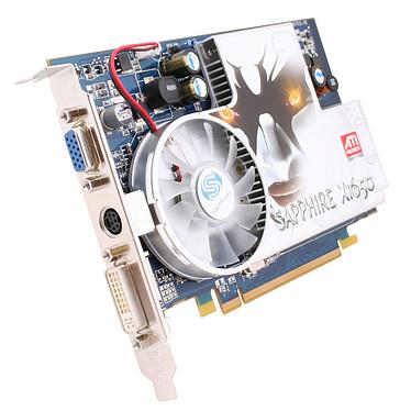 Sapphire Radeon X1650 SE 256 MB Sapphire Radeon X1650 SE 256 MB - 256 Mo TV-Out/DVI - PCI Express (ATI Radon X1650 SE)