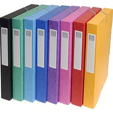 Exacompta 8 boîtes de classement 24 x 32 - dos 60 mm - coloris assortis Exacompta 8 boîtes de classement 24 x 32 - dos 60 mm - coloris assortis