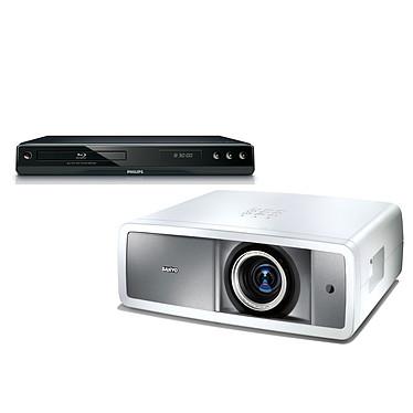 Sanyo PLV-Z800 + Philips BDP2500 Sanyo PLV-Z800 - Vidéoprojecteur LCD Full HD 1080p + Lecteur Blu-ray Philips