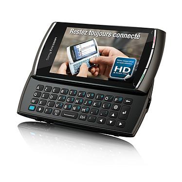 """Sony Ericsson Vivaz Pro Noir Sony Ericsson Vivaz Pro Noir - Smartphone 3G+ avec écran tactile 3.2"""" et clavier complet coulissant"""