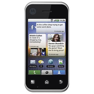 """Motorola Backflip Qwerty Noir Motorola Backflip Qwerty Noir - Smartphone 3G+ avec écran tactile 3.2"""" et clavier complet basculant sous Android"""