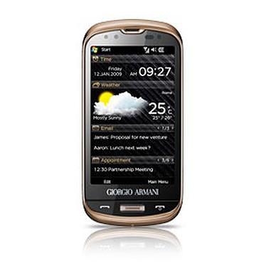 "Samsung B7620 Giorgio Armani Qwerty Samsung B7620 Giorgio Armani Qwerty - Smartphone 3G+ avec écran tactile 3.5"" et clavier complet coulissant sous Windows Mobile"